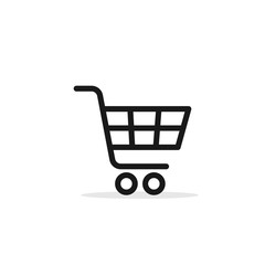 Shopping Cart Icon, flat design vector symbol