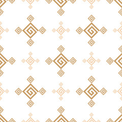 Seamless vintage wallpaper pattern. Ornamental decorative background. Vector template can be used for design of wallpaper, fabric, oilcloth, textile, wrapping paper and other design