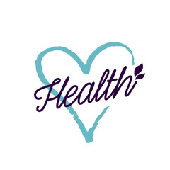 Health Lettering and Heart Outline