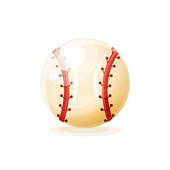 Ball for baseball game. Popular team game on sports field.
