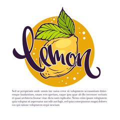 Lemon drinks vector illustration for your label, emblem, sticker, logo