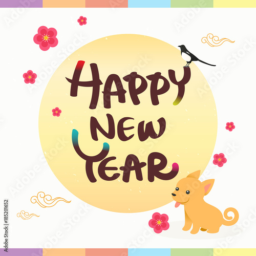 Happy new year greeting card vector illustration seollal korean happy new year greeting card vector illustration seollal korean lunar new year with m4hsunfo