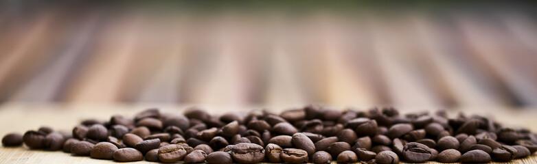Coffee beans close-up. Black Espresso.