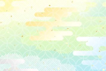 パステル 霞 和柄 背景