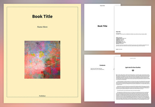 Simple Book Layout for ePub