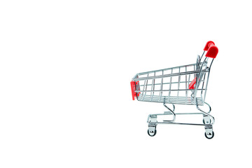 isolated shopping cart + clipping path