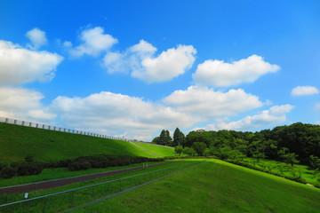 空と雲と湖畔の風景13