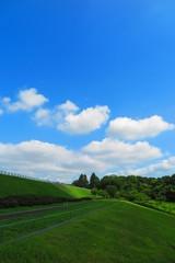 空と雲と湖畔の風景12