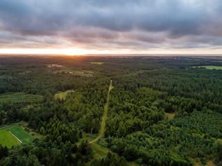 Luftaufnahmen des dänischen Nationalpark Thy