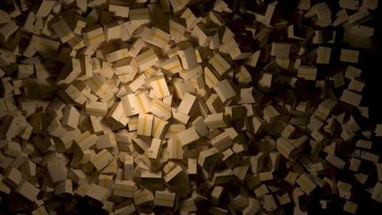 cardboard box background 3d render dark