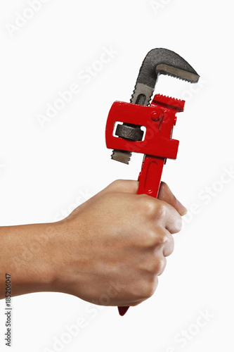 Hand Holding A Spanner Wrench Stock Photo And Royalty Free Images