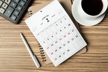 work space. calendar