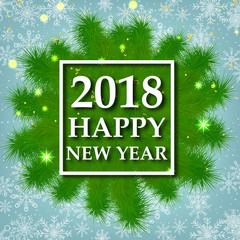 New Year. Christmas. 2018. Celebration. Holidays. congratulations. Winter. Miracle. Background.