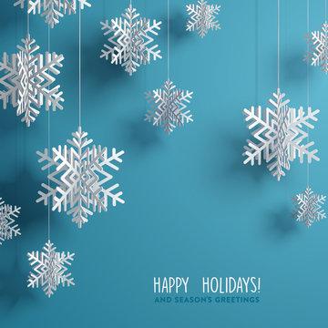 Holidays Handwritten Typography over blurred background