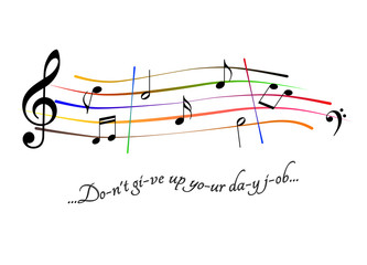 Musical score Don't give up your day job