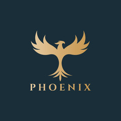 Phoenix logo. Easy to change size, color and text