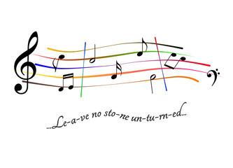 Musical score Leave no stone unturned