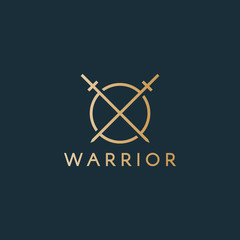 Warrior logo. Easy to change size, color and text