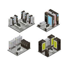 Data Center Isometric Compositions