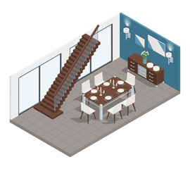 Dining Room Isometric Concept