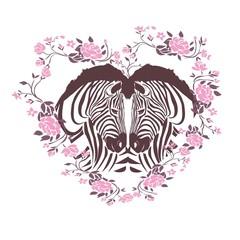cute zebra i love you forever card