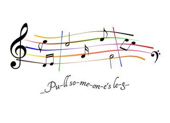 Musical score Pull someone's leg