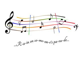 Musical score Rain on someone's parade