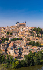 Panoramic view of old town Toledo in Spain