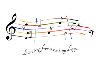 Musical score Saving for a rainy day