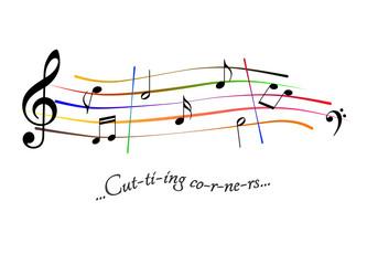 Musical score Cutting corners