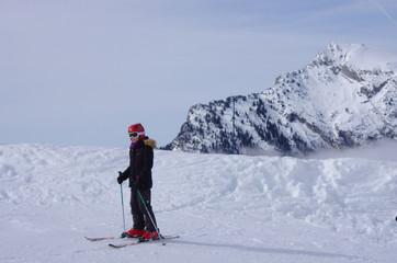enfant au ski - saint pierre de chartreuse