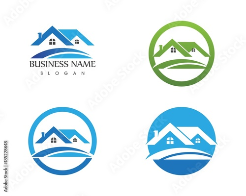 Home Logo estate and building home logo design template stock image and