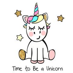 Unicorn with stars
