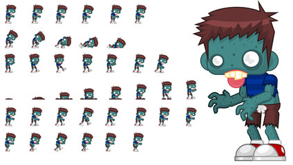 Zombie Game Character