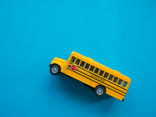 yellow bus school , back to school concept