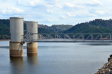 Lake Wyangala reservoir at Wyangala Dam, at the junction of the Lachlan and Abercrombie rivers in the Lachlan River Valley, near Cowra, central west region, New South Wales, Australia