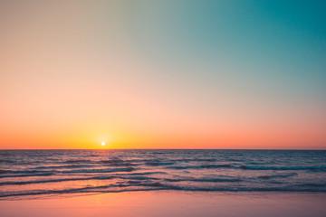 Beautiful sunset at Glenelg beach