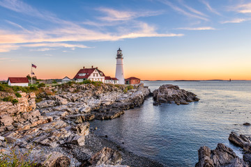 Canvas Prints Lighthouse Portland, Maine, USA