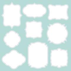 Vintage frame on white color template vector