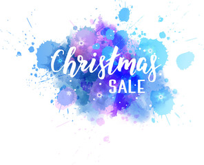 Christmas sale abstract splash