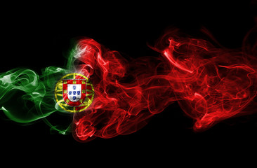 Portugal flag smoke