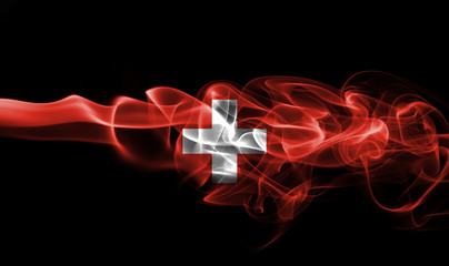 Switzerland smoke flag