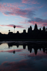 Angkor Wat at sunrise,