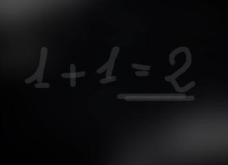 Lavagna in Ardesia classe 1+1=2