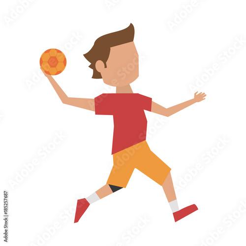 Handball players clipart
