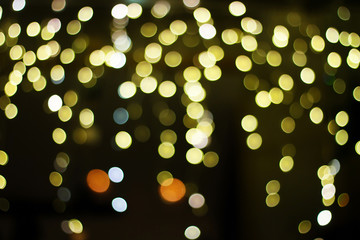 Bokeh from New Year's lights in the city.