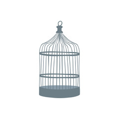 Old bird cage. Vector