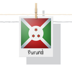 African country flag collection with photo of Burundi flag , vector , illustration