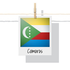 African country flag collection with photo of Comoros flag , vector , illustration