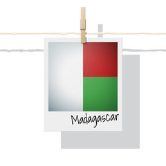 African country flag collection with photo of Madagascar flag , vector , illustration